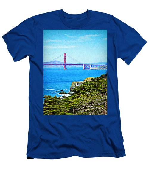 Golden Gate Bridge From The Coastal Trail Men's T-Shirt (Athletic Fit)
