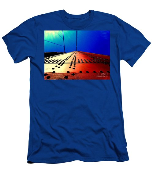 Golden Gate Bridge In California Rivets And Cables Men's T-Shirt (Athletic Fit)