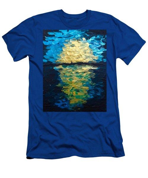 Golden Moon Reflection Men's T-Shirt (Athletic Fit)