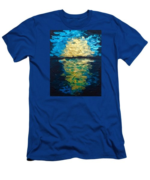 Golden Moon Reflection Men's T-Shirt (Athletic Fit)