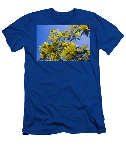 Men's T-Shirt (Athletic Fit) featuring the photograph Golden Wattle by Angela DeFrias