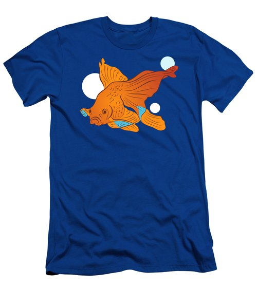 Goldfish And Bubbles Graphic Men's T-Shirt (Athletic Fit)