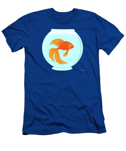 Goldfish Fishbowl Men's T-Shirt (Slim Fit) by Little Bunny Sunshine