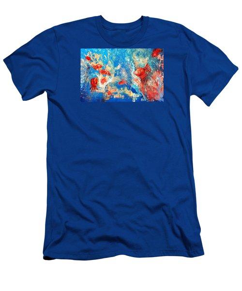 Goldfish Party Men's T-Shirt (Athletic Fit)