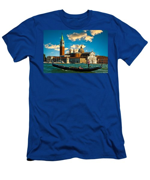 Gondola And San Giorgio Maggiore Men's T-Shirt (Athletic Fit)