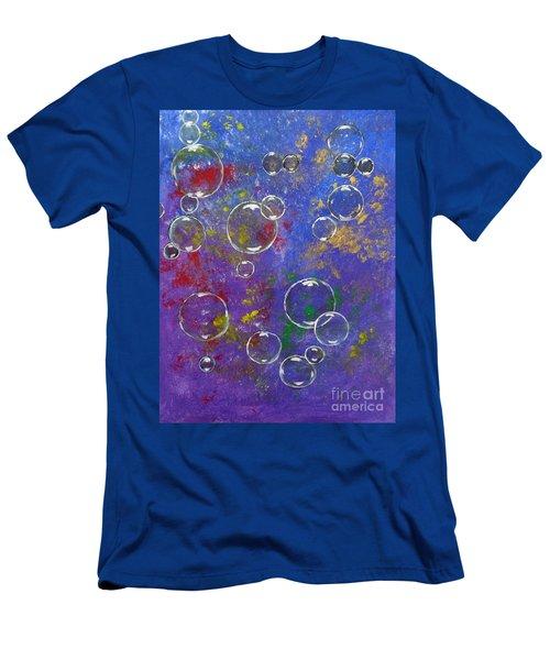 Graffiti Bubbles Men's T-Shirt (Athletic Fit)