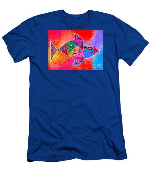 Graffiti Fish Men's T-Shirt (Athletic Fit)
