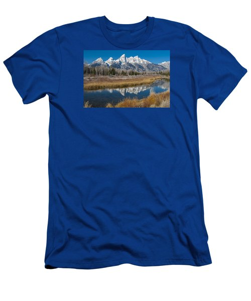 Men's T-Shirt (Slim Fit) featuring the photograph Grand Tetons by Gary Lengyel