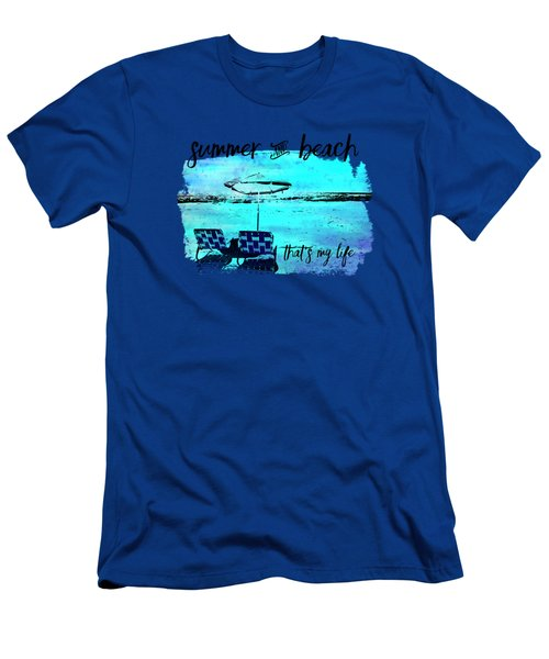 Graphic Art Summer And Beach Men's T-Shirt (Athletic Fit)