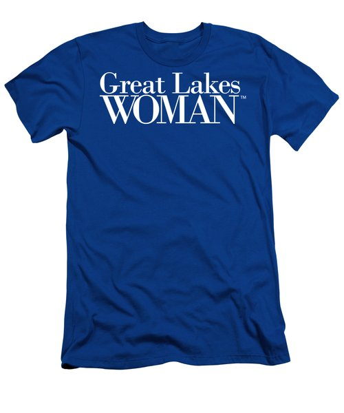 Great Lakes Woman White Logo Men's T-Shirt (Athletic Fit)