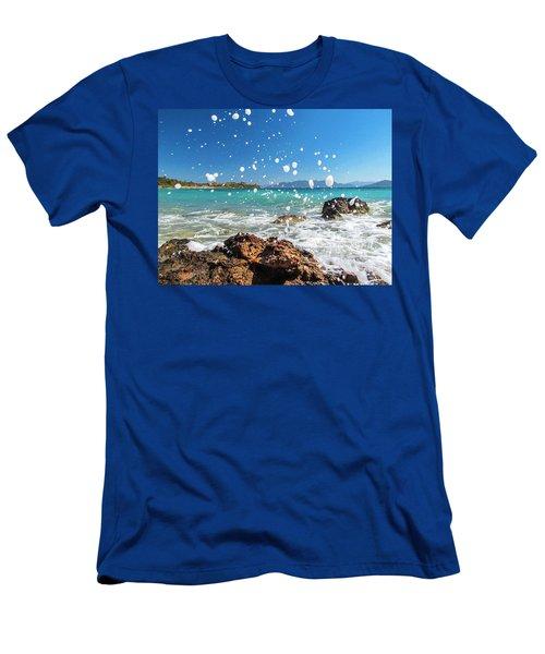 Greek Surf Spray Men's T-Shirt (Athletic Fit)