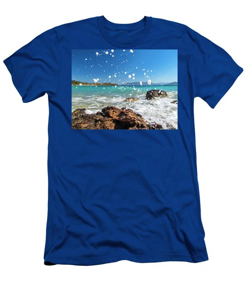 Greek Surf Spray Men's T-Shirt (Athletic Fit)