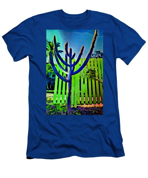 Green Fence Men's T-Shirt (Athletic Fit)