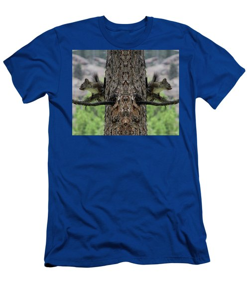 Grey Squirrels On The Look Out Men's T-Shirt (Athletic Fit)