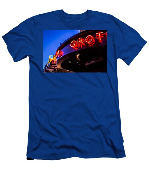 Grotto - Night View Men's T-Shirt (Athletic Fit)