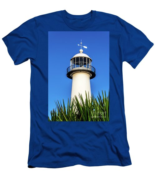 Gulf Coast Lighthouse Seascape Biloxi Ms 3819a Men's T-Shirt (Athletic Fit)