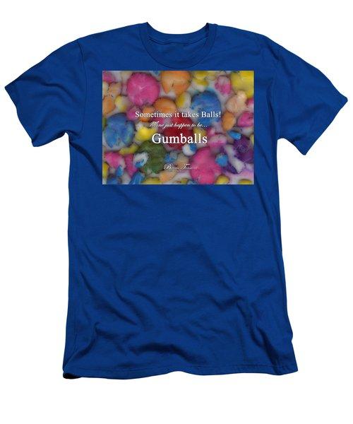 Gumballs #0000d Men's T-Shirt (Slim Fit) by Barbara Tristan
