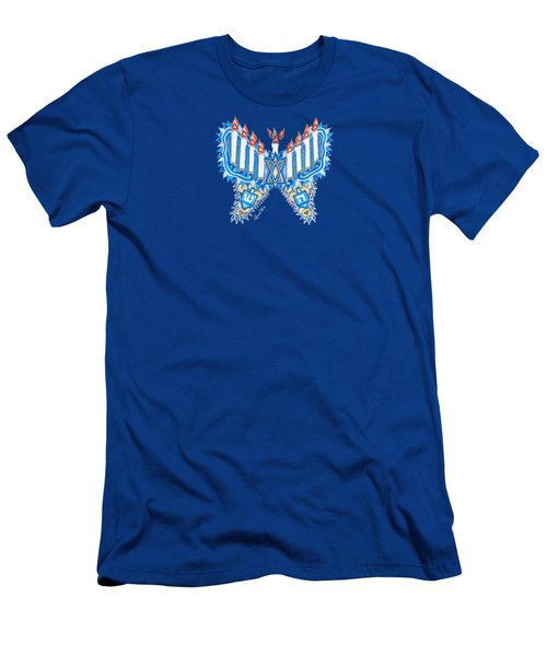 Hanukkah Butterfly Men's T-Shirt (Athletic Fit)