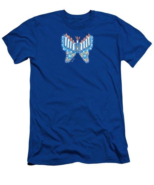 Hanukkah Butterfly Men's T-Shirt (Athletic Fit)