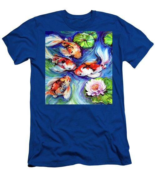 Happiness Koi Men's T-Shirt (Slim Fit) by Marcia Baldwin