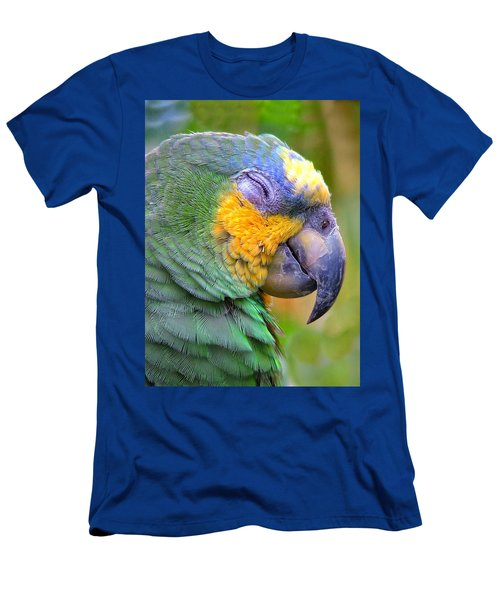 Men's T-Shirt (Slim Fit) featuring the photograph Happy 2 by Wendy McKennon