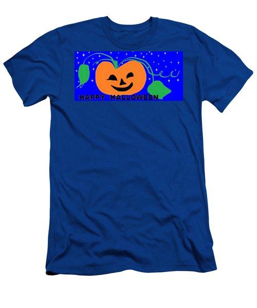 Happy Halloween 1 Men's T-Shirt (Slim Fit) by Linda Velasquez