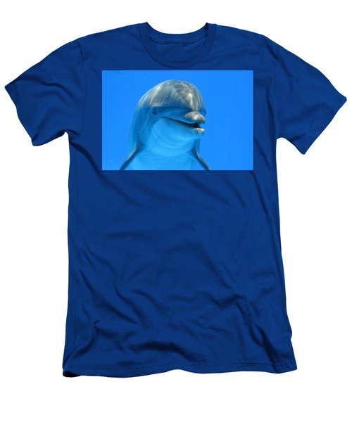 Happy Smiling Dolphin Men's T-Shirt (Slim Fit) by Richard Bryce and Family