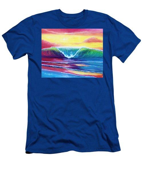 Happy Wave Men's T-Shirt (Athletic Fit)