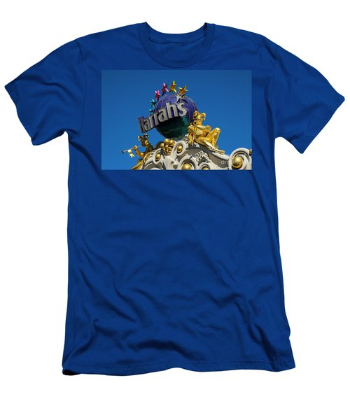 Harrah's Casino Sign On The Las Vegas Strip Men's T-Shirt (Athletic Fit)