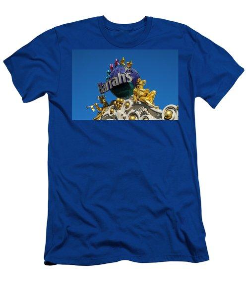 Harrah's Casino Sign On The Las Vegas Strip Men's T-Shirt (Athletic Fit)