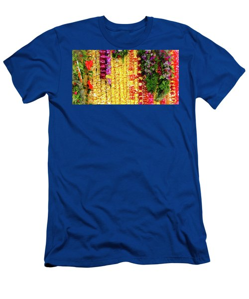 Hawaiian Flower Lei's Men's T-Shirt (Athletic Fit)