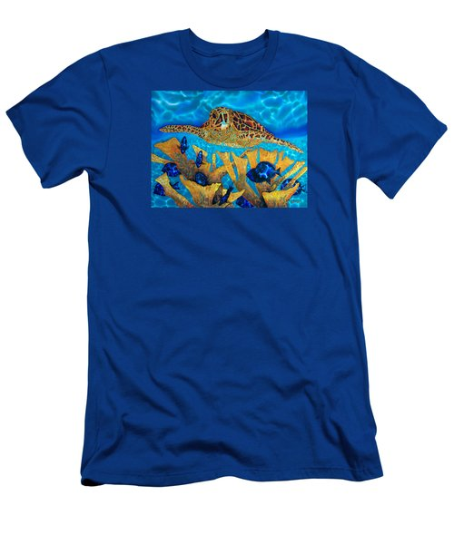 Hawksbill Sea  Turtle Men's T-Shirt (Athletic Fit)