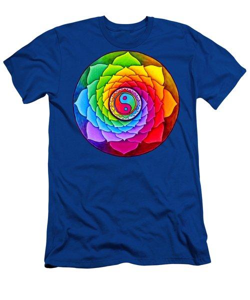 Healing Lotus Men's T-Shirt (Athletic Fit)