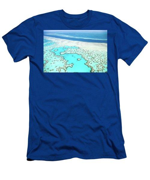 Men's T-Shirt (Slim Fit) featuring the photograph Heart Reef by Az Jackson