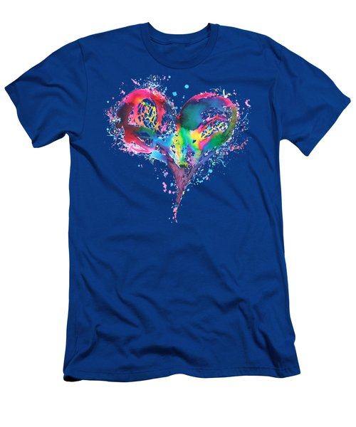Hearts 6 T-shirt Men's T-Shirt (Slim Fit) by Herb Strobino