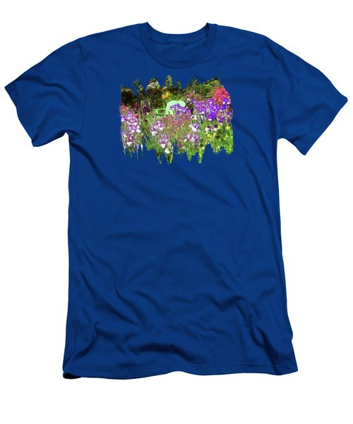 Men's T-Shirt (Slim Fit) featuring the photograph Hiding In The Garden by Thom Zehrfeld