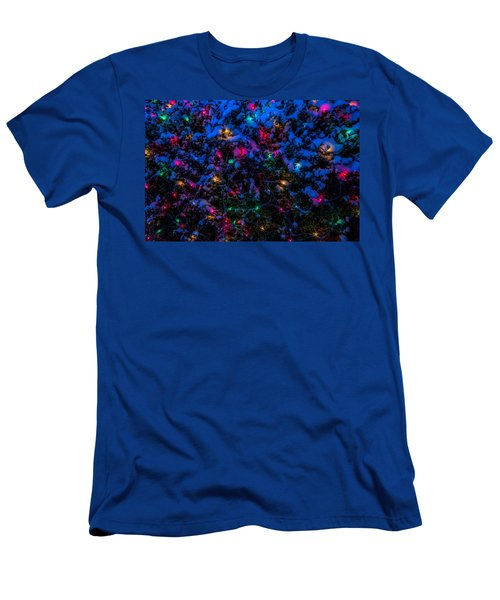 Holiday Lights In Snow Men's T-Shirt (Athletic Fit)