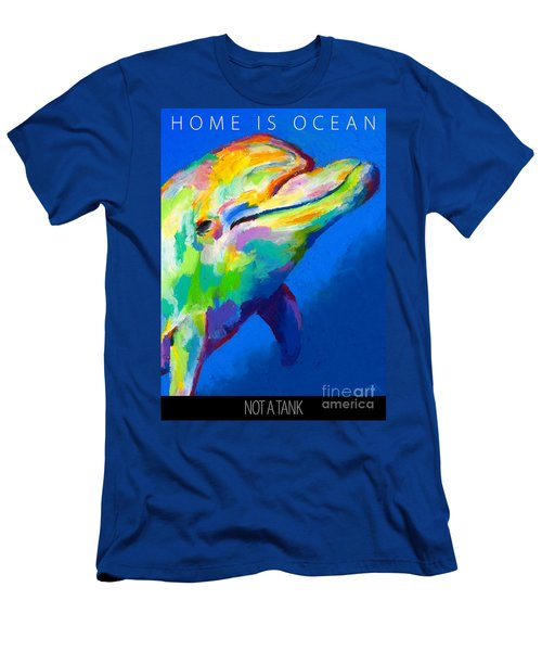 Home Is Ocean Men's T-Shirt (Slim Fit) by Stephen Anderson
