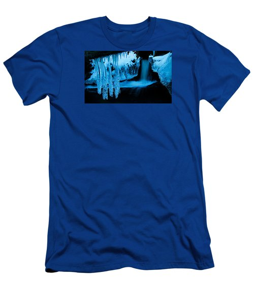 Men's T-Shirt (Athletic Fit) featuring the photograph Ice Flow by Sean Sarsfield