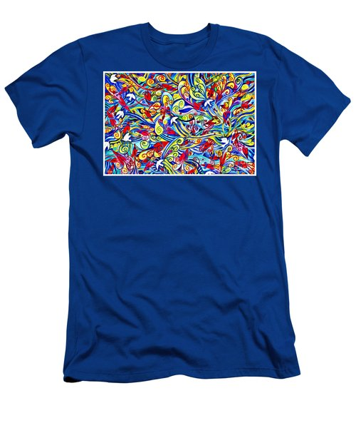 Hurricane Of Doves And Hearts Men's T-Shirt (Athletic Fit)