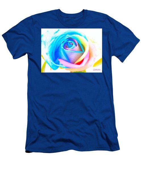 Rainbow Rose Men's T-Shirt (Athletic Fit)