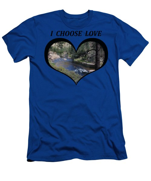 I Choose Love With A Colorado River Flowing In A Heart Men's T-Shirt (Athletic Fit)