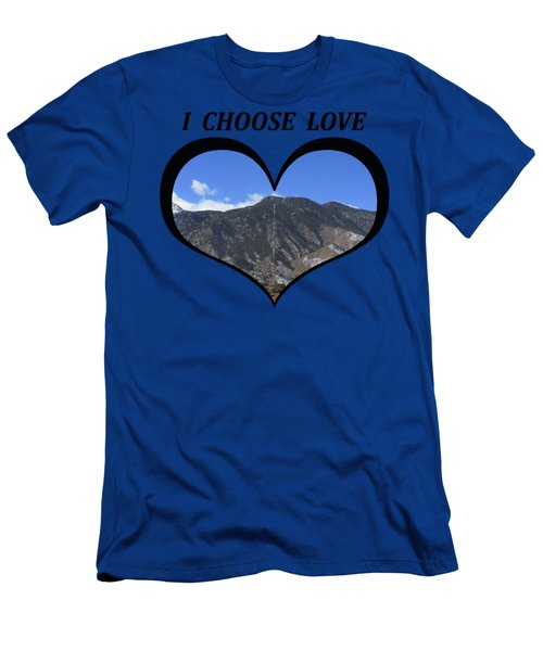 I Choose Love With The Manitou Springs Incline In A Heart Men's T-Shirt (Athletic Fit)