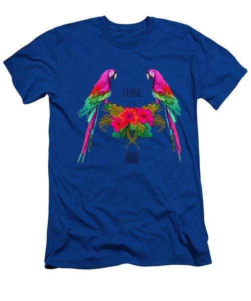 I Love Birds Men's T-Shirt (Slim Fit) by Ericamaxine Price