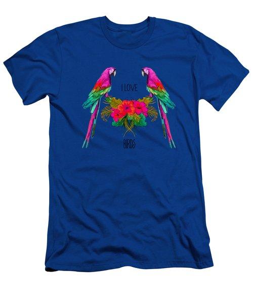I Love Birds Men's T-Shirt (Athletic Fit)
