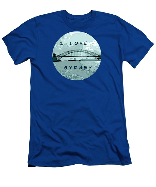 I Love Sydney Men's T-Shirt (Athletic Fit)