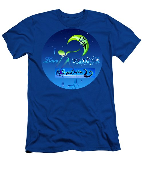 Men's T-Shirt (Slim Fit) featuring the painting I Love Water  by Robert G Kernodle