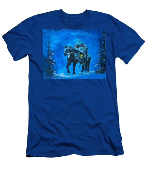 Men's T-Shirt (Slim Fit) featuring the painting I Will Carry You by Leslie Allen