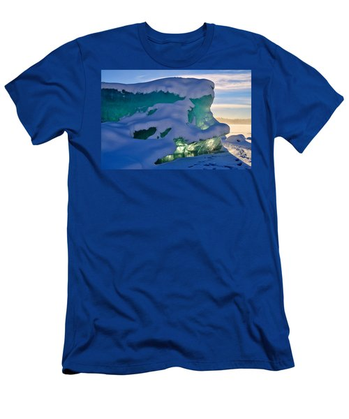 Iceberg's Glow - Mendenhall Glacier Men's T-Shirt (Slim Fit) by Cathy Mahnke