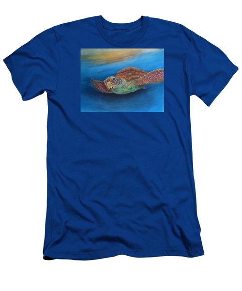 Men's T-Shirt (Slim Fit) featuring the painting I.c.u by Ceci Watson